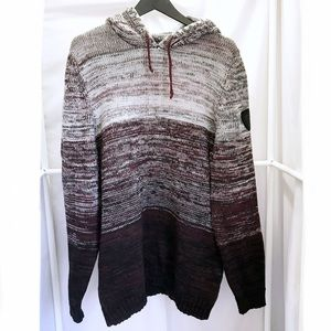 Buffalo David Bitton Ombre Hooded Pullover Sweater